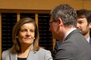 Ministra y Comisario Andor