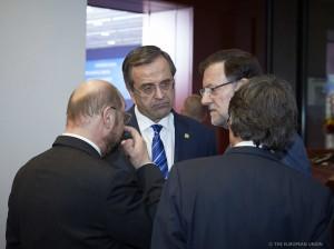Presidente con schultz y Samaras
